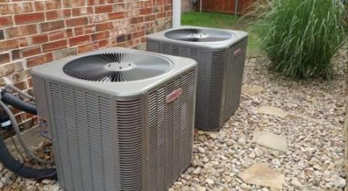 AC condensers outside home in Allen
